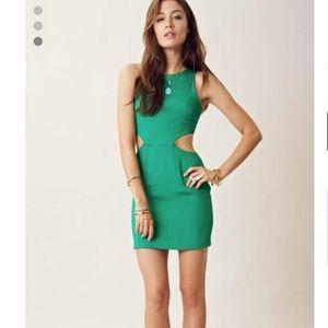 Naven green cutout dress